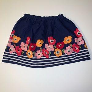 Gymboree Floral Skirt Sz 7